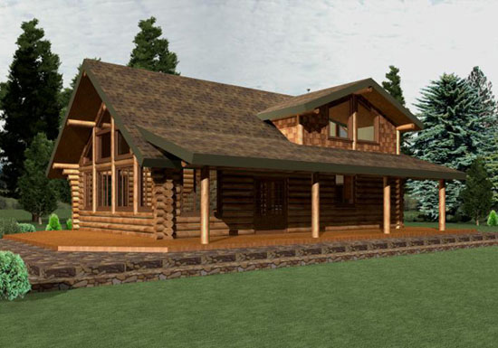 Log Home Renders Log Homes Washington Log Homes By